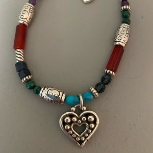 Brighton multivcolored bracelet with heart